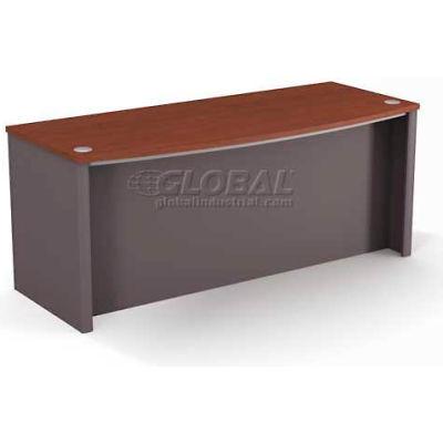 """Bestar® Executive Desk - 71"""" - Bordeaux & Slate - Connexion Series"""
