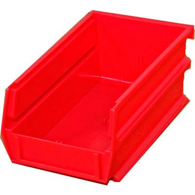 "Storability Bins 7-3/8""D x 4""W x 3""H Red (10 pc)"