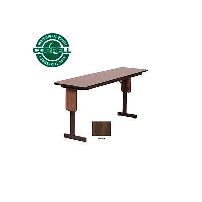 "Correll Folding Seminar Table - 18"" x 96"" - Walnut"