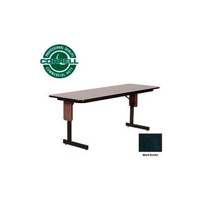 "Correll Folding Seminar Table - 24"" x 96"" - Black Granite"