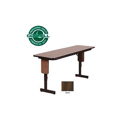 "Correll Folding Seminar Table - Adjustable Height - 18""x 72"" Walnut"