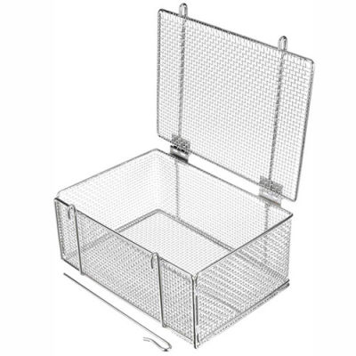 Marlin Steel Basket w/ Lid Electropolished Stainless Steel 14 x 10 x 6-5/8, Price Each for Qty 1-4