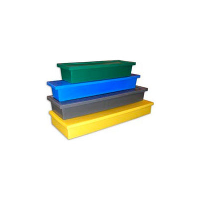 Bayhead Storage Container with Lid BS-18 - 18-1/2 x 3 x 2-1/2 Yellow