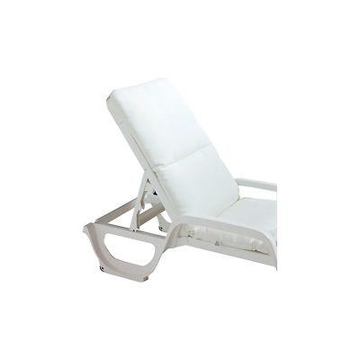 Grosfillex® Chaise Cushion With Hood - White - Pkg Qty 6
