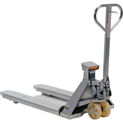 Stainless Steel Pallet Jack Scale Truck PM-2745-SCL-LP-SS 5000 Lb. Cap.