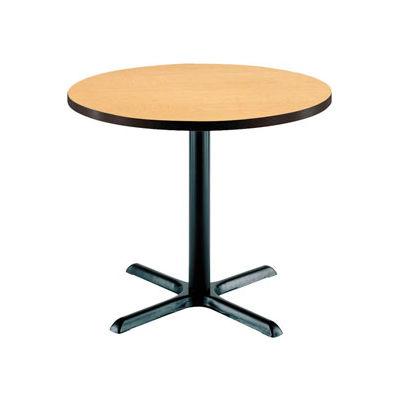 "KFI 36"" Round Restaurant Table - Laminate - Natural"