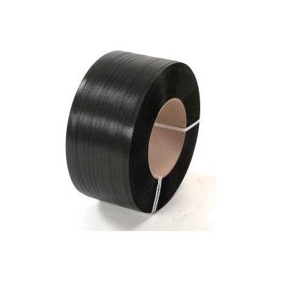 """Polypropylene Strapping 1/2"""" x .026"""" x 7,200' Black 16"""" x 6"""" Core"""
