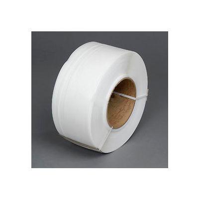 """Polypropylene Strapping 1/4"""" x .024"""" x 18,000' White 8"""" x 8"""" Core"""