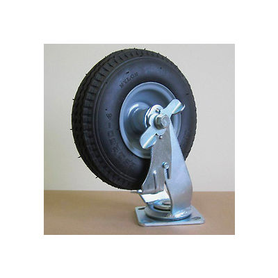 """9"""" Pneumatic Swivel Caster with Brake PC908-S-BK for Little Giant® Carts"""
