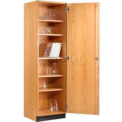 "Diversified Woodcrafts Wood Solid Door Tall Storage Cabinet 313-2422 - 24""W x 22""D x 84""H"