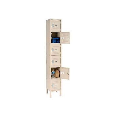 """Global Industrial™ Six Tier 6 Door Infinity® Locker, 12""""Wx18""""Dx12""""H, Tan, Assembled"""