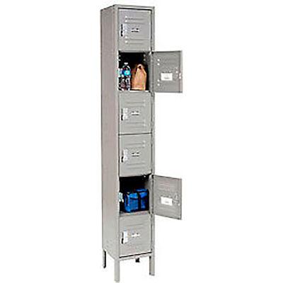"""Global Industrial™ Infinity® Six Tier 6 Door Locker, 12""""Wx18""""Dx12""""H, Gray, Assembled"""