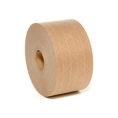 """Holland Hi Tech Reinforced Water Activated Tape 3"""" x 450' 5 Mil Tan - Pkg Qty 10"""