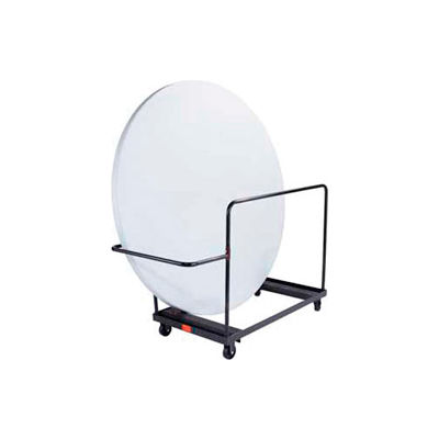 "Vertical Storage Folding Table Dolly For 72"" Round Table"