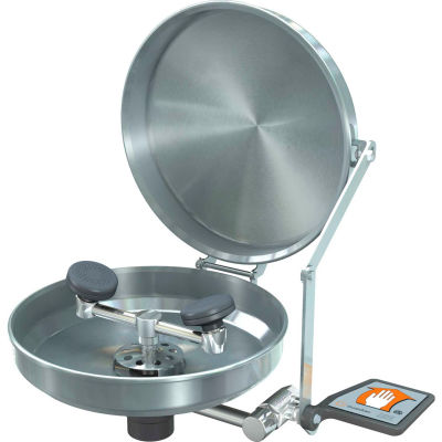 Guardian Equipment Eye/Face Wash Wall Mounted Stainless Steel Bowl and Cover, G1750BC
