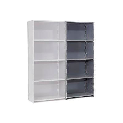 """Global Industrial™ Steel Shelving 20 Ga 36"""" Wx30"""" Dx97"""" H Closed Clip 5 Shelves Add-On"""