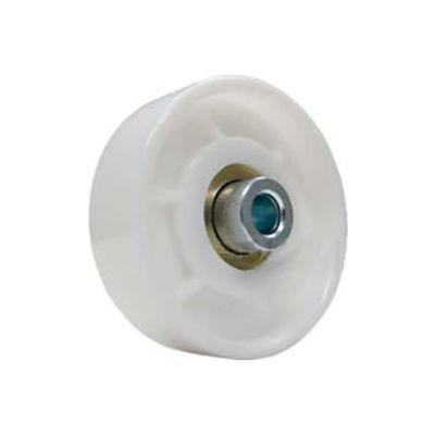 """Omni Metalcraft 1-15/16"""" Dia. White Nylon Conveyor Skate Wheel 110657 50 Lb. Cap."""