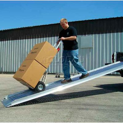 """B & P Aluminum Truck Walk Ramp Hook Style PRP-2810-F 28""""W x 10'L"""
