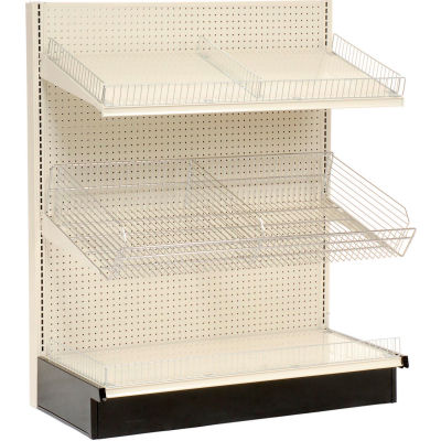 "Lozier - Gondola Shelving, 36""W x 19""D x 72""H Single Side - Wall Starter"