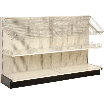 "Lozier - Gondola Shelving, 48""W x 25""D x 84""H Single Side - Wall Add-On"
