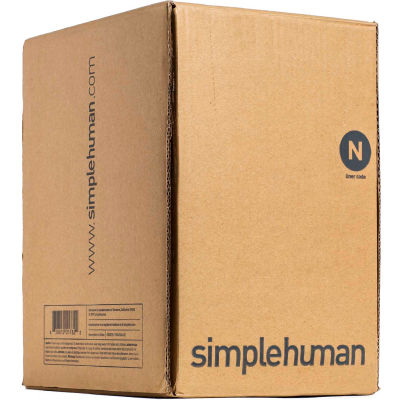 simplehuman® Trash Can Liner Code N, 12-13 Gallon,  22.8 X 31.5, 1.18 Mil, White, Pack of 200