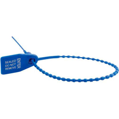 """SECS-B9-BL Security Seals, """"Sealed-Do Not Remove"""", Blue, 100/Pack"""