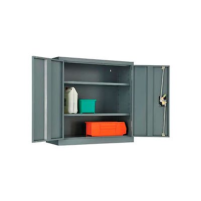 "Global™ Wall Storage Cabinet Assembled 30""W x 12""D x 30""H Gray"