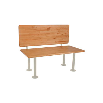 """ADA Locker Room Bench With Seat, Back and Pedestal 42""""W x 20""""D x 17-1/4""""H"""