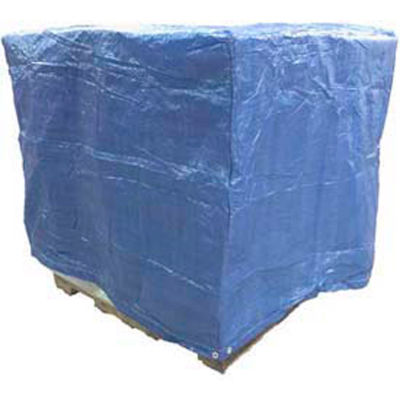 """Blue Poly 5-Sided Cover, 48"""" x 60"""" x 48"""", Price Per Pack of 5"""