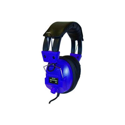 Stereo/Mono Headphones with Plug Adaptor & Volume Control Blue