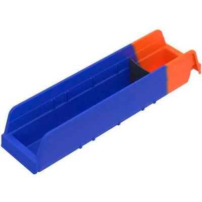 "Akro-Mils Indicator® 36448BLUE Two Tone Double Hopper Shelf Bin - 4-1/8""W x 17-7/8""D x 4""H - Pkg Qty 12"