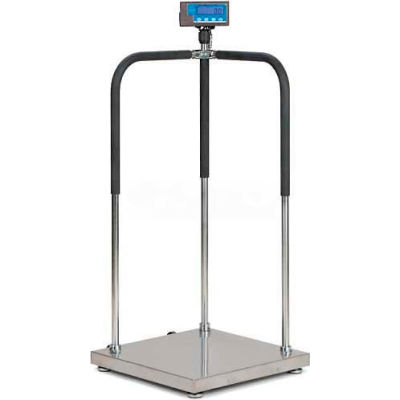 """Brecknell MS140-300 Portable Medical Electronic Physician Scale, 660lb x 0.2lb, 20-1/2"""" x 20-1/2"""""""