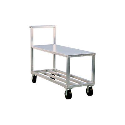 New Age NS557A Heavy Duty Aluminum Stock Cart Solid Top Shelf 3000 Lb. Cap.