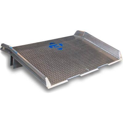 Bluff® Speedy Board® Aluminum Dock Board, Welded Aluminum Curb 15ATD6030 60x30 15,000 Lb.