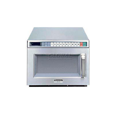 Panasonic® NE-12521, Commercial Microwave, 0.6 Cu. Ft., 1200 Watt, Keypad Control,