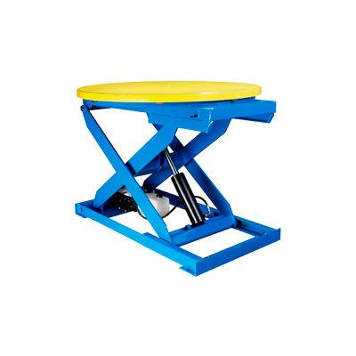 "Bishamon® OPTIMUS Lift2K Lift Table 43"" Dia. Turntable 2000 Lb. Cap. Hand Control L2K-TT-H"