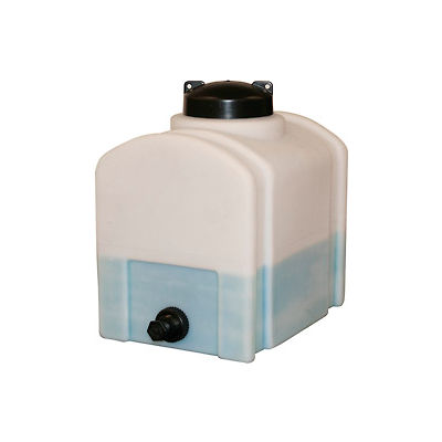 RomoTech 8 Gallon Plastic Storage Tank 82123879 - Domed with Flat Bottom