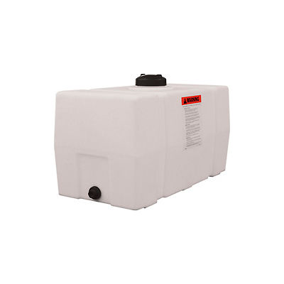 RomoTech 50 Gallon Plastic Storage Tank 82123919 - Square End with Flat Bottom