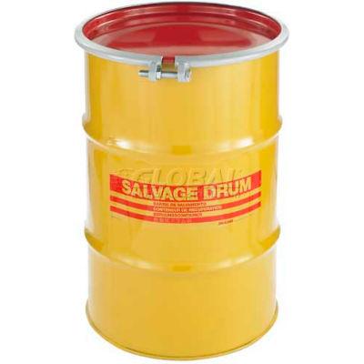 Global Industrial™ Carton Steel Salvage Transport Overpack Drum 30 Gallon Open Head