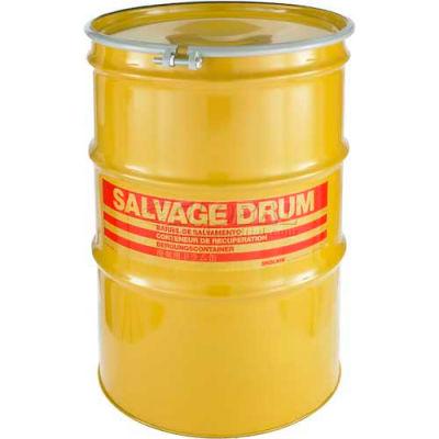 Global Industrial™ Carton Steel Salvage Transport Overpack Drum 85 Gallon Open Head