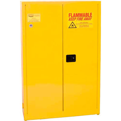 Eagle Paint/Ink Safety Cabinet with Self Close - 30 Gallon Yellow