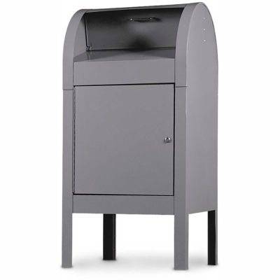 """Steel Curbside Collection Box, 22-1/2""""W x 22-1/2""""D x 48""""H, White Powder Coating"""