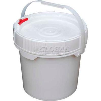 3.5 Gallon Screw-Top Plastic Pail & Lid PAIL-SCR-35-W - White
