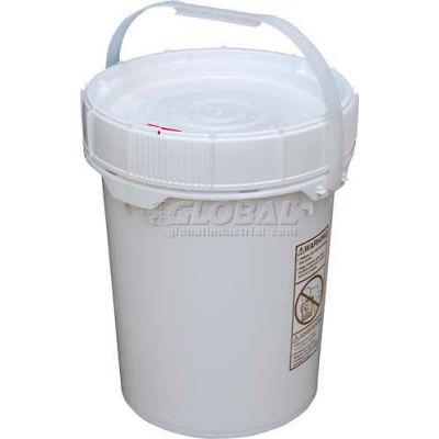 5 Gallon Screw-Top Plastic Pail & Lid PAIL-SCR-5-W - White