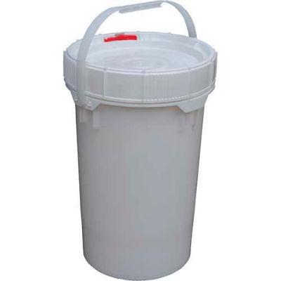 6.5 Gallon Screw-Top Plastic Pail & Lid PAIL-SCR-65-W - White
