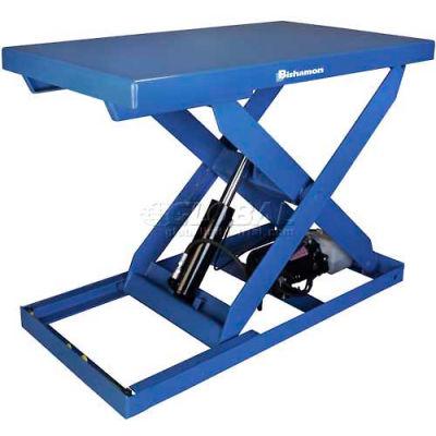 "Bishamon® OPTIMUS Foot Control Power Scissor Lift Table, 48"" x 36"", 2000 Lb. Cap."