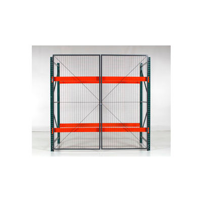 "Wirecrafters - RackBack® Wire Mesh Pallet Rack Enclosure - Back Panel 144""W x60"""