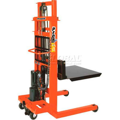 "PrestoLifts™ AC Powered Lift Stacker EPFT796 94"" Lift 1000 Lb. Cap."