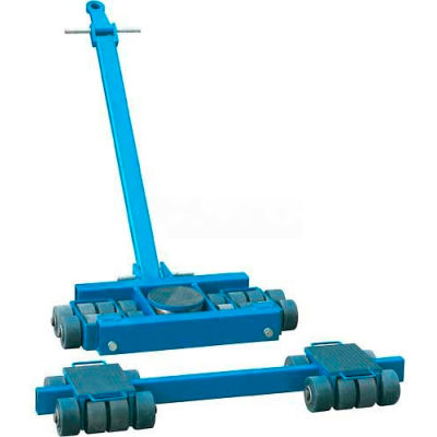 Steerable Machinery Moving Skate Roller Kits 40 Ton Capacity