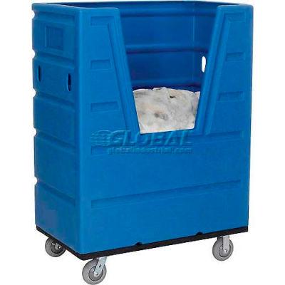 Global Industrial™ Blue Best Value Hopper Front Plastic Bulk Truck 43 Cu. Ft.